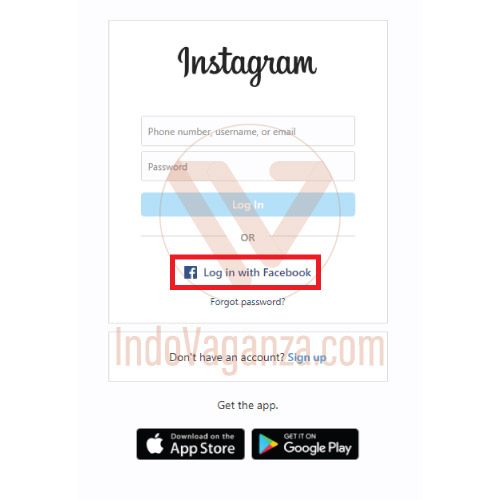 cara lupa password instagram