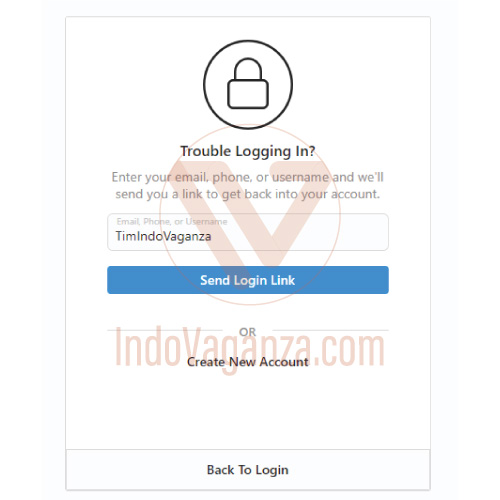lupa password instagram di android