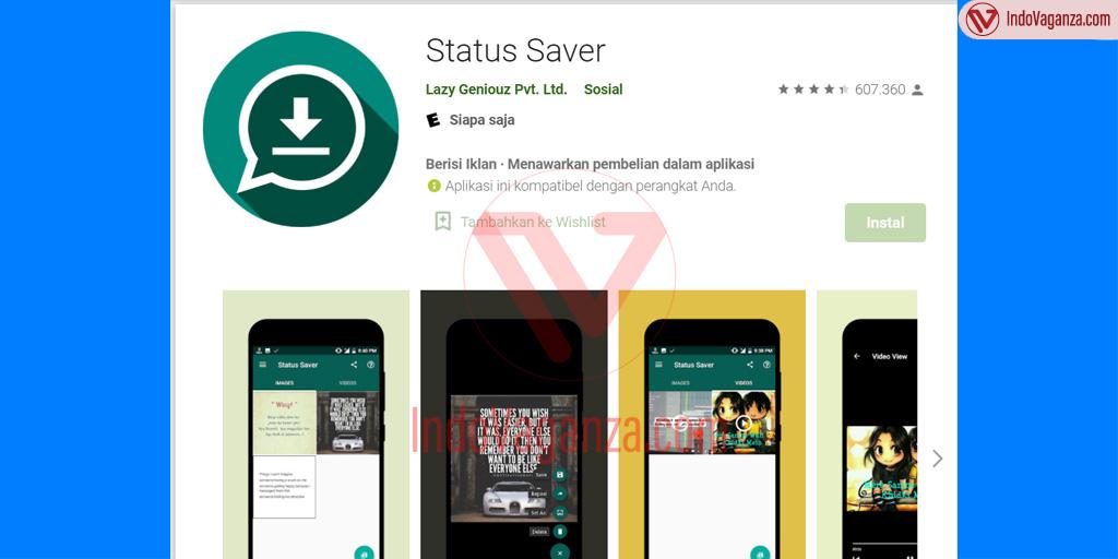 Trik Download Story WhatsApp dengan Tool Status Saver